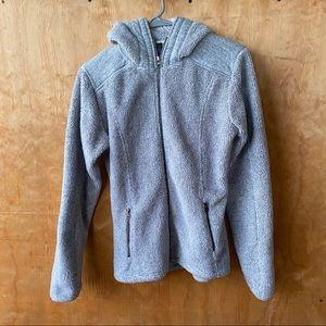 Kuhl Gray Fleece Full ZIP Hooded Sweatshirt